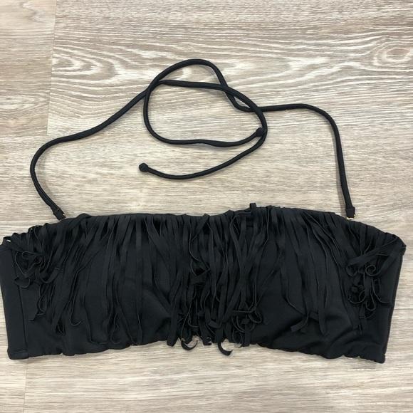 VICTORIA SECRET Fringe Black Bikini Top